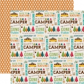 Designpapier Echo Park - Happy Camper - Back To Nature, 30,5 x 30,5 cm