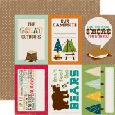 Designpapier Echo Park - Happy Camper - Journaling Cards, 30,5 x 30,5 cm