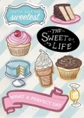 The Sweet Life - Chipboard Accents - 9 Stück
