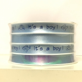 "Bänder - Curling Ribbon 10mm 4x6m ""It's A Boy"" Blue"