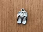 Charms - plastic - silver - Flip Flops