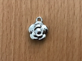 Charms - plastic - silver - Rose