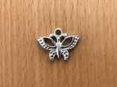 Charms - plastic - silver - Butterfly
