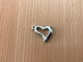 Charms - plastic - silver - Heart
