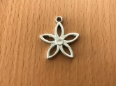 Charms - plastic - silver - Flower