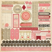 "Lost & Found Heirloom: 12""x12"" Sticker Sheet"