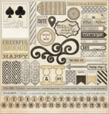 "Lost & Found Antique: 12""x12"" Sticker Sheet"