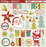 Mistletoe Magic 12x12 Chipboard Accessories