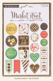 My Minds Eye - Market Street - Nob Hill - Decorative Chipboard Buttons