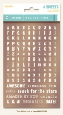 Buchstaben Sticker - Metallic Tiny Word/Alphas