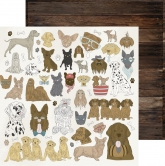 "Designpapier Kaisercraft Pawfect - double-sided 12x12"" dogs"