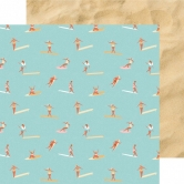 Designpapier zweiseitig, Kaisercraft double-sided 30,5x30,5cm Summer Splash Surfers
