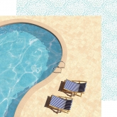 Designpapier zweiseitig, Kaisercraft double-sided 30,5x30,5cm Summer Splash Poolside