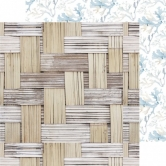 Designpapier zweiseitig, Kaisercraft double-sided 30,5x30,5cm Beach Shack Thatched
