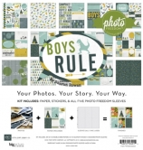Paper Set - Echo Park - Boys Rule Collection Kit 12