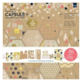 "Papierblock - Capsule Collection - Geometric Kraft - 12"" x 12"" - 36 Blatt"