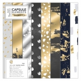 "Papierblock - Capsule Collection - Elements Metallic - 12"" x 12"" - 36 Blatt"