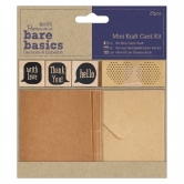Mini Kraftpapier Kartenset - Bare Basics