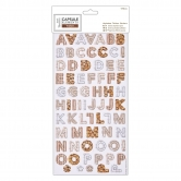 Alphabet 'Thicker' Sticker - Capsule Collection - Elements Wood