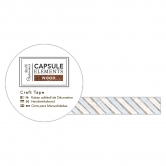 Washi Tape - Holzoptik Bastelklebeband Streifen - Capsule Collection - Elements Wood