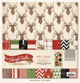 "Paper Set - Sleigh Bells Ring Paper & Accessory Kit 12"" x 12"""
