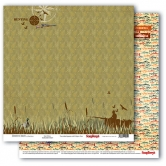 "Scrapbooking Papier Doppelseitig 12""*12"", Adventure Awaits, Gone fishing"