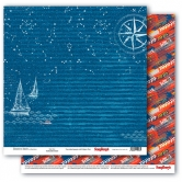 "Scrapbooking Papier Doppelseitig 12""*12"", Adventure Awaits, Open Seas"