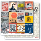 "Scrapbooking Papier Doppelseitig 12""*12"", Adventure Awaits, Cards 1"