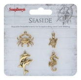 Metal charms set SeaSide - Tiere