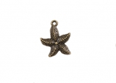 Metal charms set STARFISH - Metall Seestern - 10 Stück