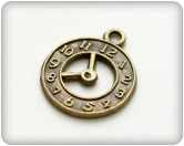 Metal charms set SMALL WALL CLOCK - kleine Metall Wanduhr - 10 Stück