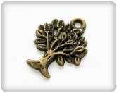 Metal charms set SPRING TREE - Metall Baum - 10 Stück