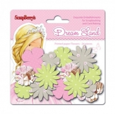 Papierblumen - Paper printed blossoms Dreamland, Pink flowers