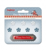 Set of metal embellishments with epoxy Once Upon a Winter