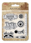 Set of stamps 10,5*10,5cm Auto Vintage. Motor