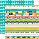 Echo park double sided paper 30,5x30,5cm - scoot border strips