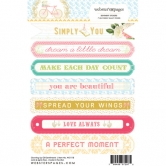 Websterspages Word Sentiment Growing Up Girl 4X6 Stickers