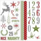 Candy Cane Lane: Chipboard 12x12