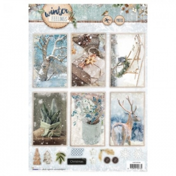 Designpapier gestanzt Winter FEELINGS 60
