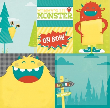 Bo Bunny 30,5x30,5cm double sided paper - Our Lil'Monster - adventure