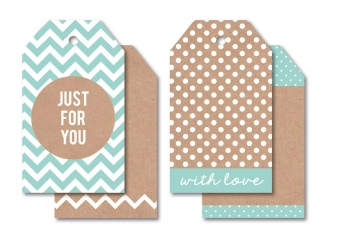 Kaisercraft tag kraft just for you - blue