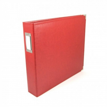 "We R Memory Keepers - faux leather album 12x12"" Real Red"