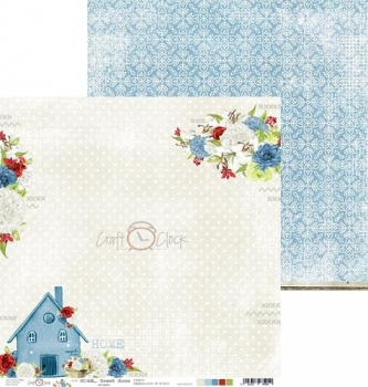"Double-sided paper 12""*12"" Home Sweet Home - 04"