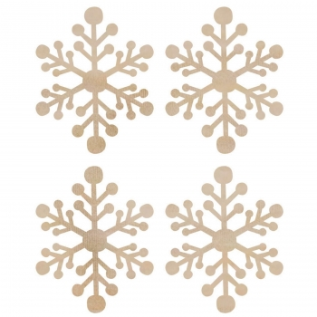 Kaisercraft wood flourish mini snowflakes