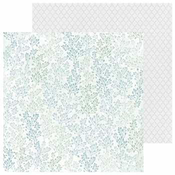 "Designpapier Kaisercraft Lilac Whisper double-sided 12x12"" jade"