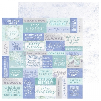 "Designpapier Kaisercraft Lilac Whisper double-sided 12x12"" well wishes"