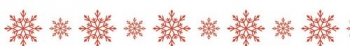 Washi Tape - Craft tape with print Snowflakes in red