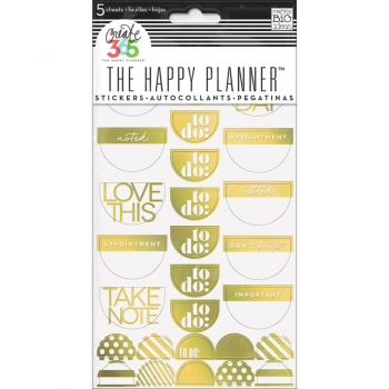 Me & My Big Ideas - Create 365 The Happy Planner - Stickers - Take Note Gold Foil