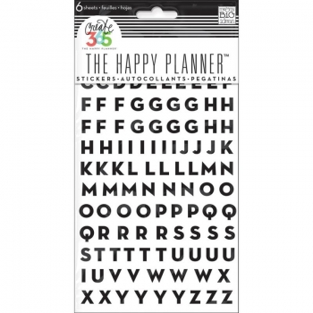Me & My Big Ideas - Create 365 The Happy Planner - Sticker - Alpha Black