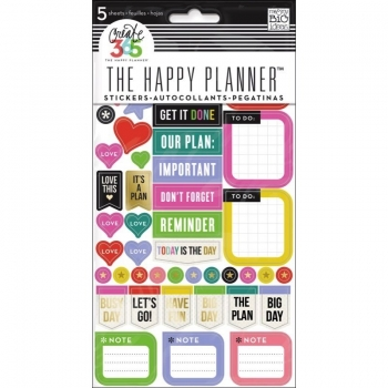 Me & My Big Ideas - Create 365 The Happy Planner - Sticker - Everyday Reminders